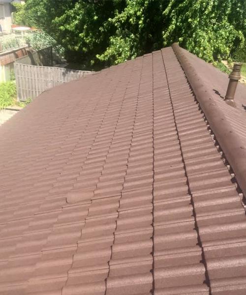 Illustration d'un toit après le travail de Toiture Jean