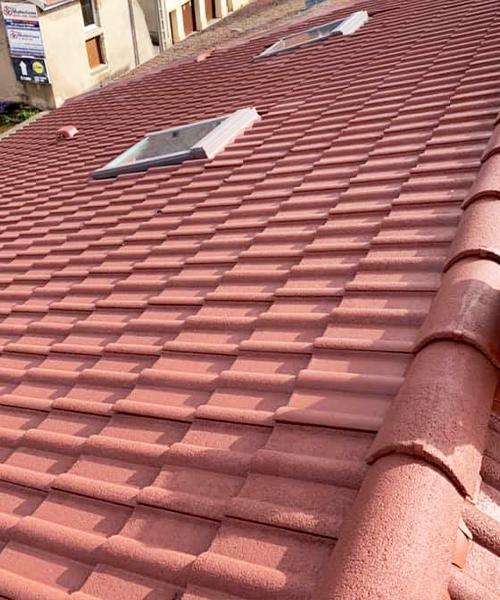 Image d'un toit après le travail de Toiture Jean